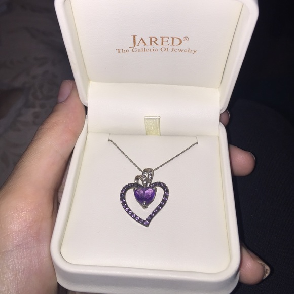 jared Jewelry Purple Heart Necklace Sterling Silver Poshmark