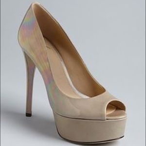 Brian Atwood Shoes - Brian Atwood Bambola Nude Platform Heels Sz9
