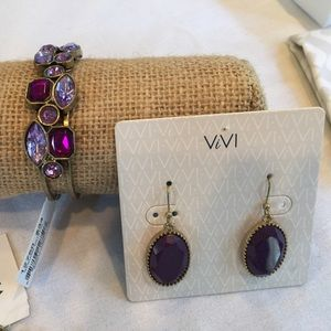 🎉Final Sale🎉Royalty Purple Crystal Drop Earrings