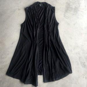 XXI (Forever 21) black duster vest I Sz Small