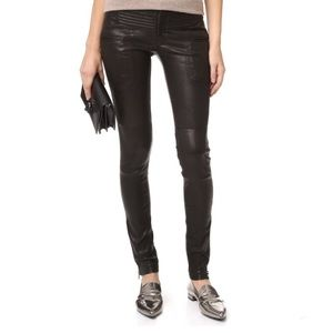 Marissa Webb Leather Moto Pants Size 2
