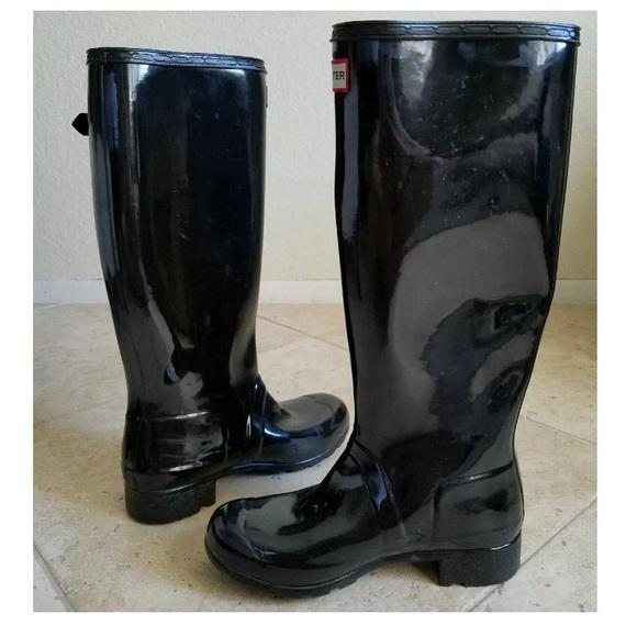 21% off Hunter Boots Shoes - Hunter Women's Gloss Black Rain Boot ...