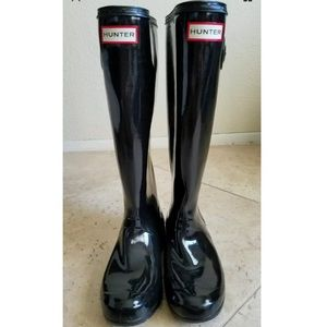 Hunter Women's Gloss Black Rain Boot
