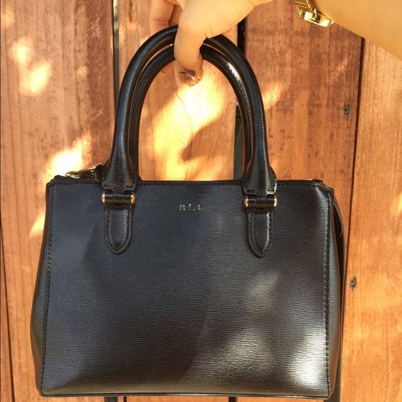 Lauren Ralph Lauren Handbags - Sale! Black Newbury Mini Handbag 224d51fbde7e7