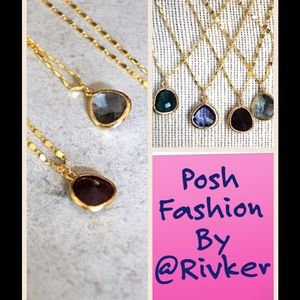 Gold Faceted Necklaces