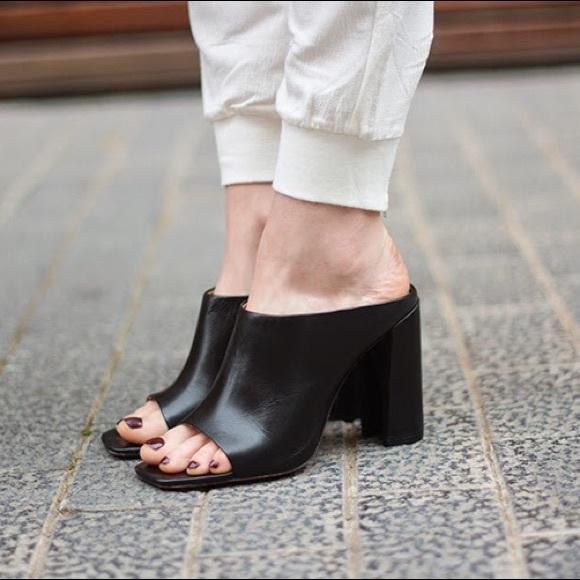 9c0ee6355b13 ... leather high heel mules size 38 tibi. M 580e78505c12f82c430be654