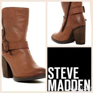 Steve Madden Yara Bootie/Cognac/sz 6.5