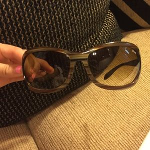 Women's green and brown marbled Smith sunglasses
