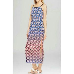 Valencia Ombre Tile Print Maxi Dress
