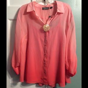 Covington Tops - Brand New Pink Button Up Shirt.