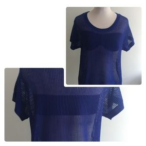 ⭐NWOT⭐Open Knit Shirt