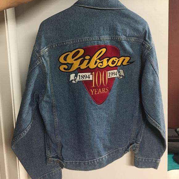 Image result for gibson guitar denim jacket