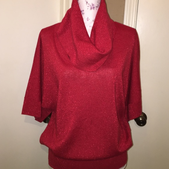 Michael Kors - 🎉HP🎉Michael Kors red sparkle cowl neck sweater ...