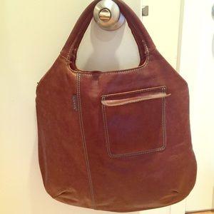 Orla Kiely Handbags - Orla Kiely // brown leather bag
