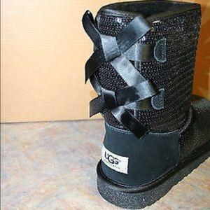 da9557f2cd9 NEW UGG Bailey Bow Sparkle Boots 1 HOLD NWT