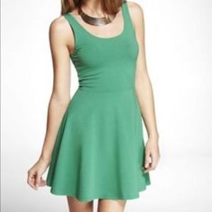 Green skater dress from Express NWT
