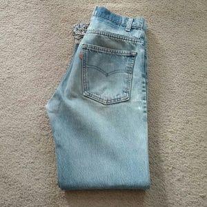 Vintage Leatherock Levi's Jeans