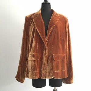 Emanuel Ungaro Jackets & Blazers - Emanuel Ungaro velvet plus classic Silk Blazer 18w