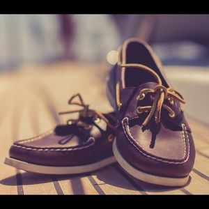 Leather Sperry Topsiders Boat Shoes Loafers 8