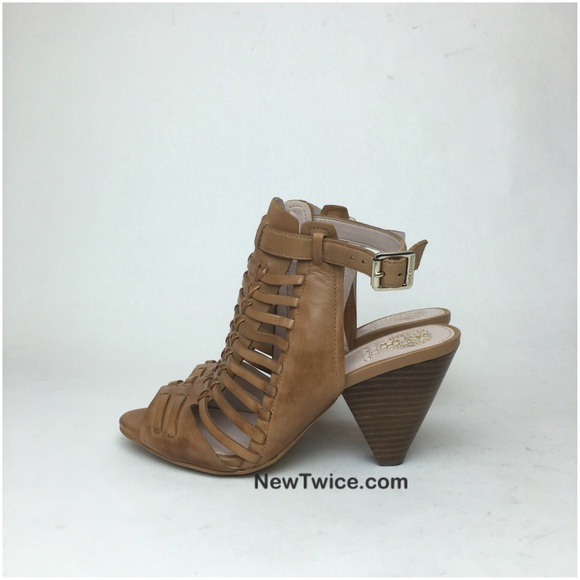 eb8a8d456a1 Vince Camuto Effel tan leather cage heel 5. M 580ea4274e8d17e95101adea