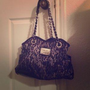 Black lace purse