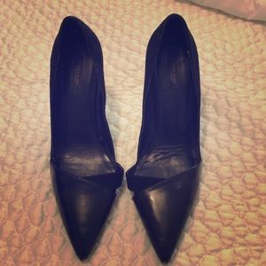 Zara SPAIN black suede stiletto heels