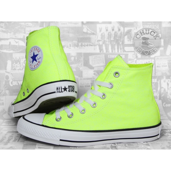 Converse Shoes - Converse high tops 👟👟 in neon yellow size 8 3802a574f