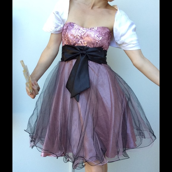 Hot Topic Dresses Dolly Ballerina Tulle Lolita Black Bow Prom