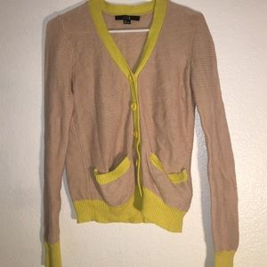 Nude and neon cardigan