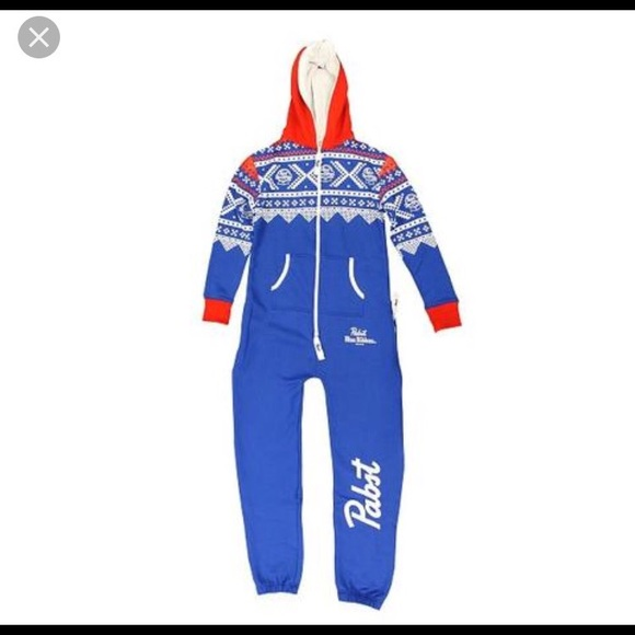Pabst Blue Ribbon Other Adult Sweatshirt Onesie Poshmark