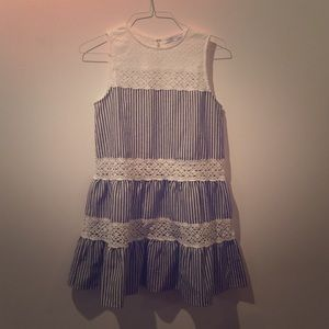 English Factory Stripes and Crochet Dress