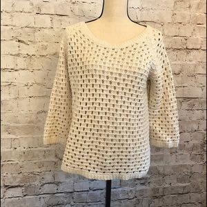 Chelsea & Violet Sweaters - Chelsea & Violet Sweater Cream 100% Cotton Large