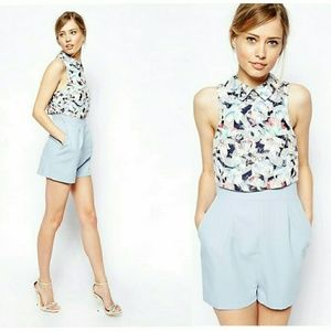 ASOS Pants - {ASOS} Playsuit with Racer Front in Burnout Floral