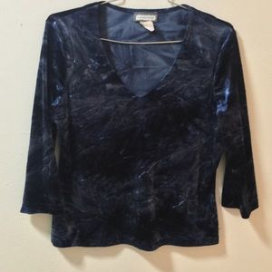 Tops - SALE!!! 90s Velvet Long Sleeve Top