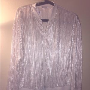 Zara metallic lightweight jacket . Size m