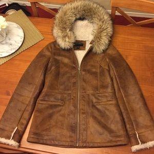 Bernardo Jackets & Blazers - END OF SEASON SALE Amazing Bernardo fur hood coat