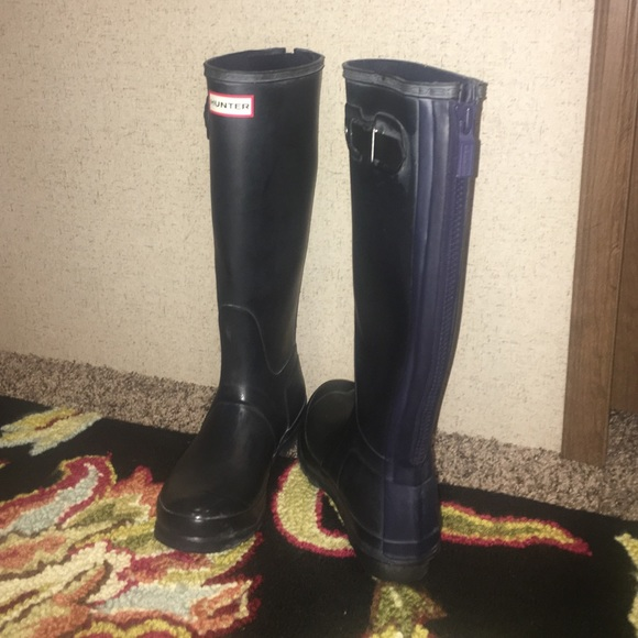 39% off Hunter Shoes - Hunter rain boots with zipper back from ...