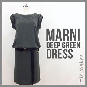 Marni Dresses & Skirts - MARNI • short sleeve deep green mini dress
