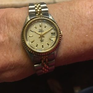 Timex Gold and silver plated women's watch.