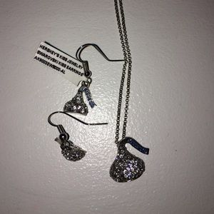 Swarovski Crystal Hershey Kiss Earrings/Necklace