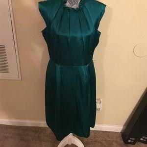 ANTONIO MELANI Dresses & Skirts - Antonio Melani green silk dress