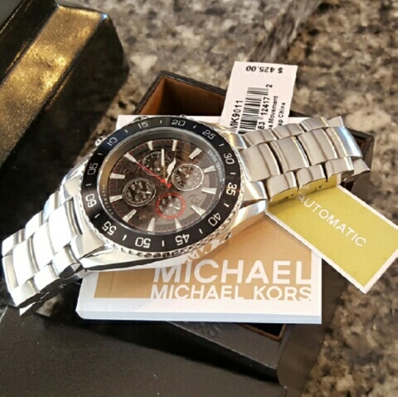 Mens Michael Kors Jetmaster Automatic watch MK9011 NWT