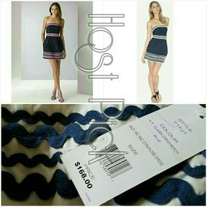 HP French Connection Mini Ric Rac Strapless Dress