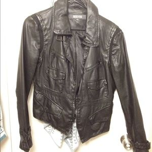 Kenneth Cole Reaction Jackets & Blazers - Faux leather Moto biker jacket