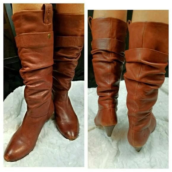 296f511705e Frye Shoes - Frye Jenny Double Boot Cognac Size 9