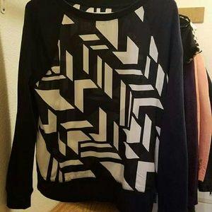 Dark blue geometric sweater