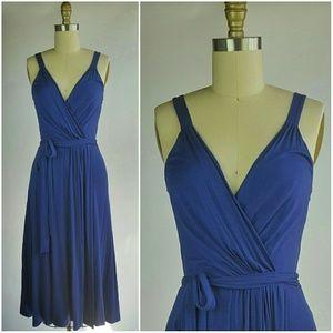 LUSH blue Wrap Dress