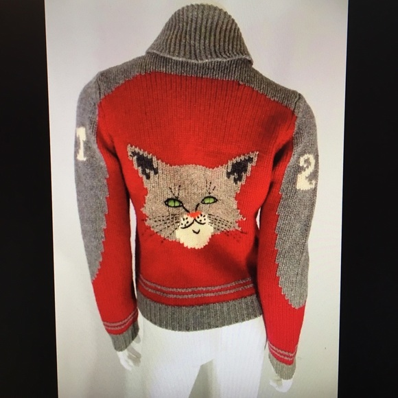Moth Anthropologie Cat Varsity Zip Sweater