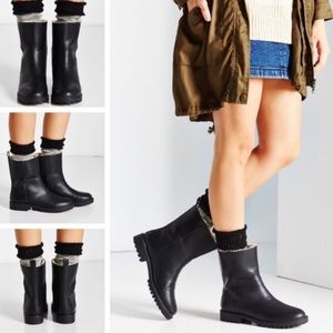 Urban Outfitters Black Alfred Warm Lining Boots