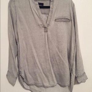 GAP denim gray tunic